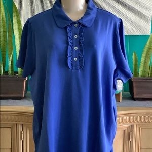 THE OUTFITTERS BY LANDS END Blue Women's Blouse 2X